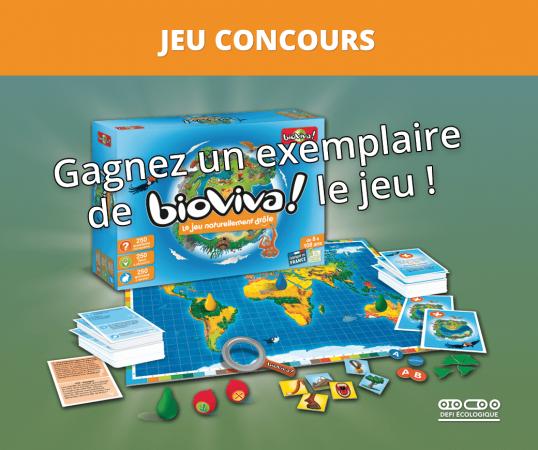Visuel du jeu concours Bioviva Le Jeu par DEFI-Écologique