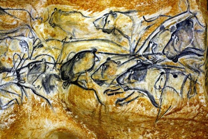 Fresque des lions de la grotte Chauvet