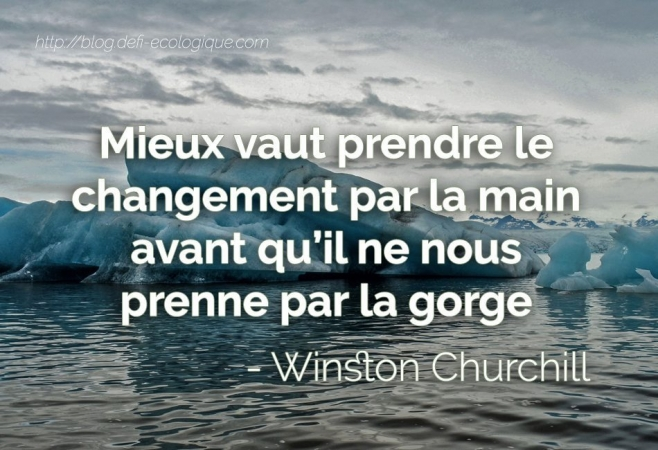 citation à propos de l'écologie de Winston Churchill