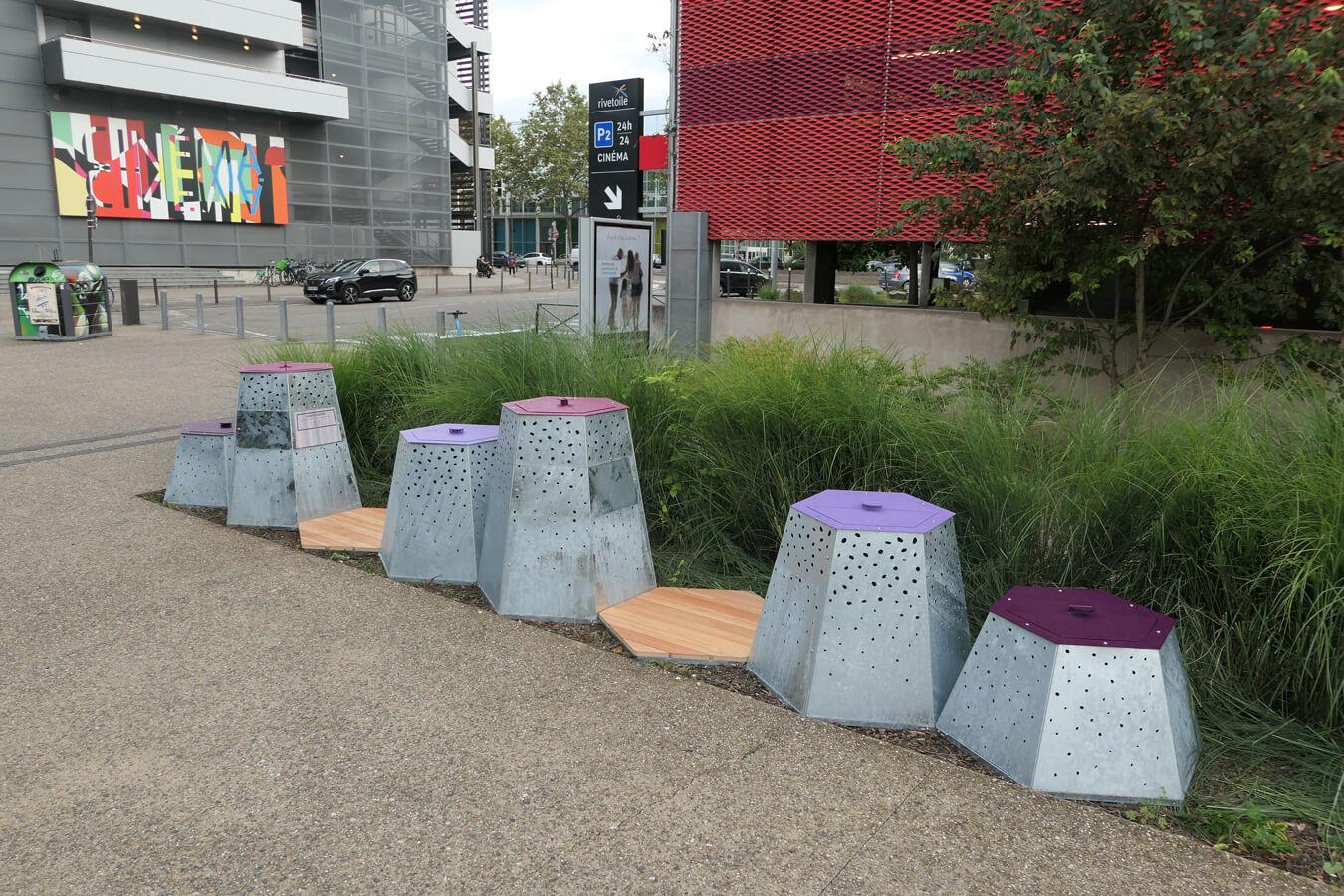 Îlot de compostage urbain à Nancy