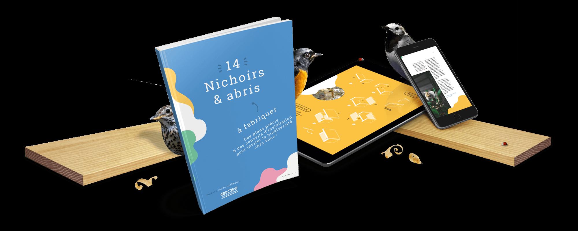 Couverture E-book - 14 nichoirs et abris à fabriquer