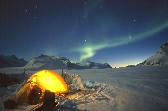 Aurore boréale et camping sauvage au Groenland