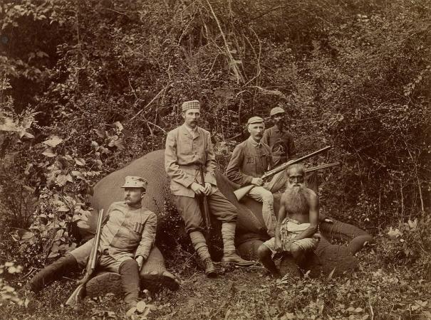 L'opposition entre l'Homme et la Nature est vieille comme la chasse. Ici, l'archiduc François Ferdinand en 1893.