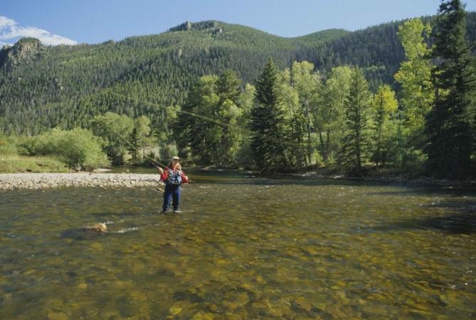 La pêche à la mouche est une pêche en eau douce particulière et relativement proche de l'animal