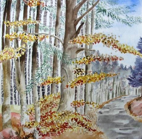 Réalisation personnelle avec une peinture à base de pigments naturels
